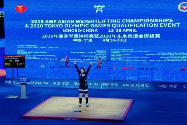 مرضیه قنبری در دسته 76 کیلوگرم نهم شد، حریف کره ای رکوردشکنی کرد
