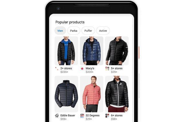 گوگل خرید اینترنتی لباس را آسان می نماید